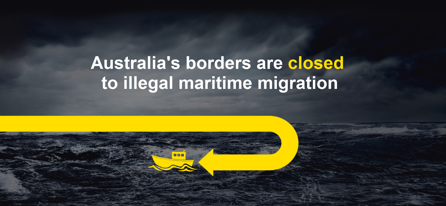 Australia's borders are closed to illegal marintime migration